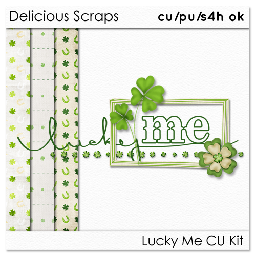 "Delicious Scraps: • Free ""Lucky Me"" Commercial & PU Collection *Re-upload* •"