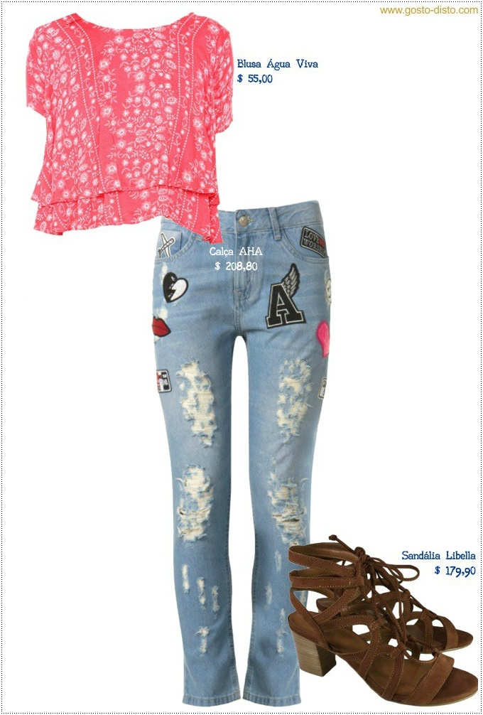 Look de verão com calça jeans