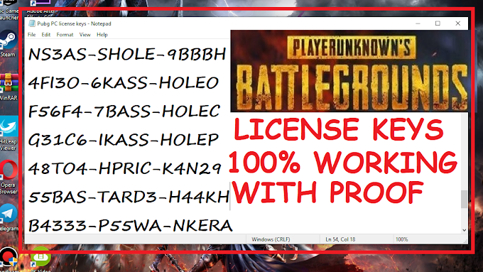 Pubg PC License Keys ALL WORKING 100% 9MAY 2019