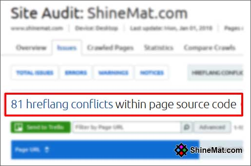 how to add hreflang conflicts within page source code