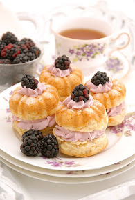 Scones with Blackberry Whipped Cream