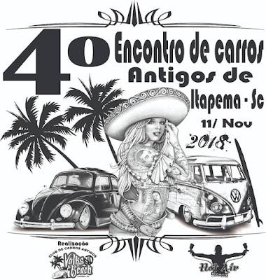 4° Encontro de Carros Antigos de Itapema SC - Volks Beach