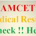 AP EAMCET 2016 Medical Result Declared