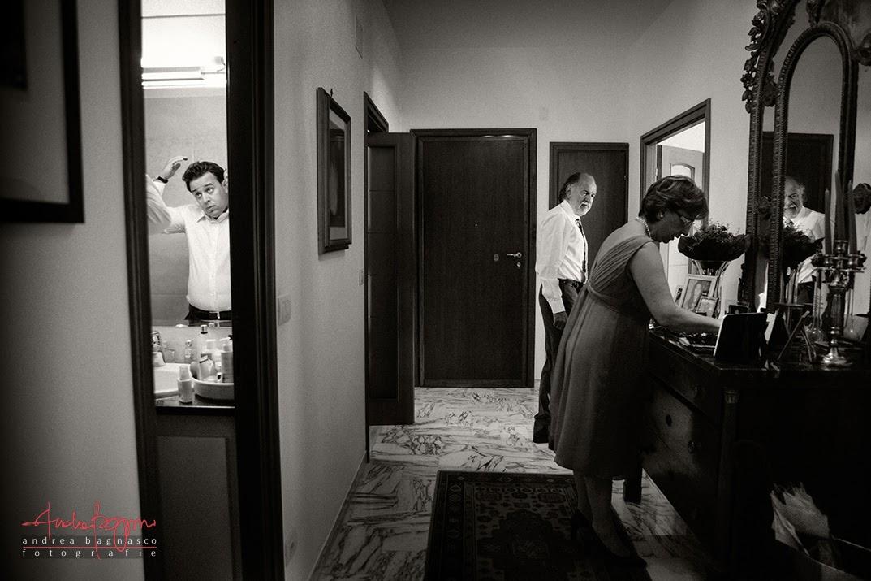 preparazione sposo a casa Genova