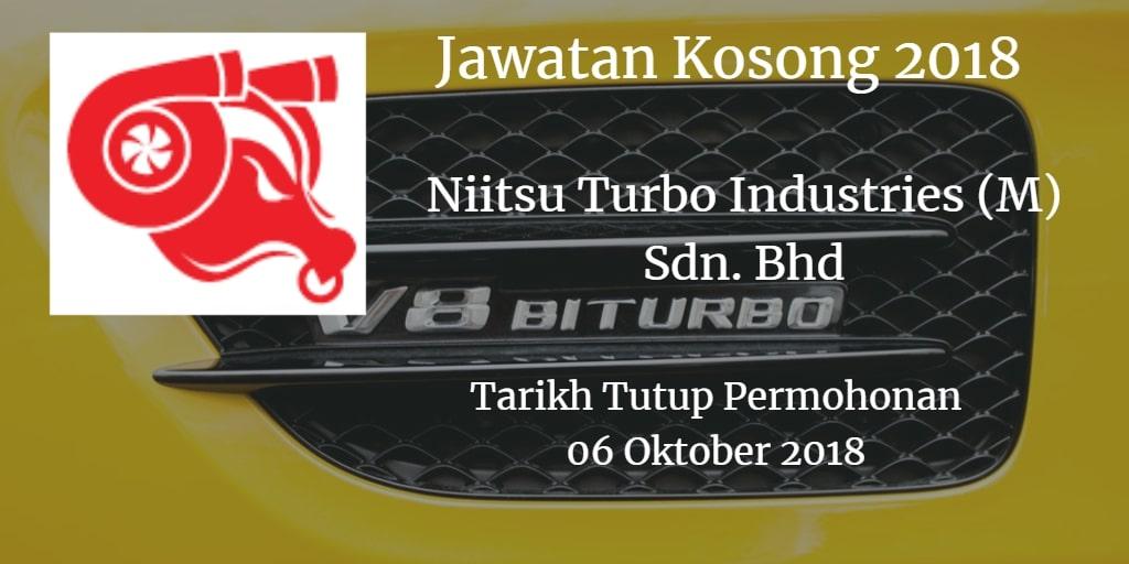 Jawatan Kosong Niitsu Turbo Industries (M) Sdn. Bhd 06 Oktober 2018