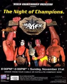 WCW Mayhem 1999 - Event poster