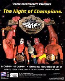 WCW Mayhem 1999 - Event poster