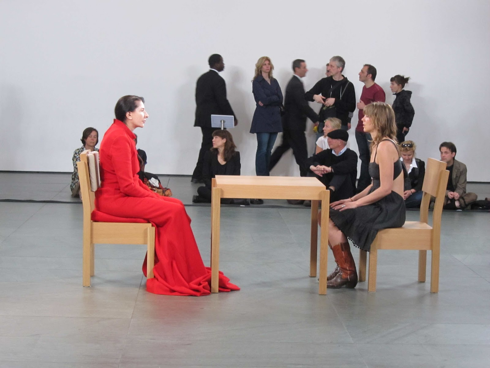 From March 14th To May 31st 2010 Marina Abramovic Sat On A Chair In The Middle Of A Large Hall In New Yorks Museum Of Modern Art A Few Feet
