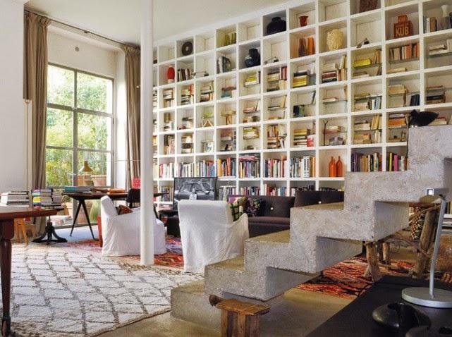 projet maison: bibliothèque mur