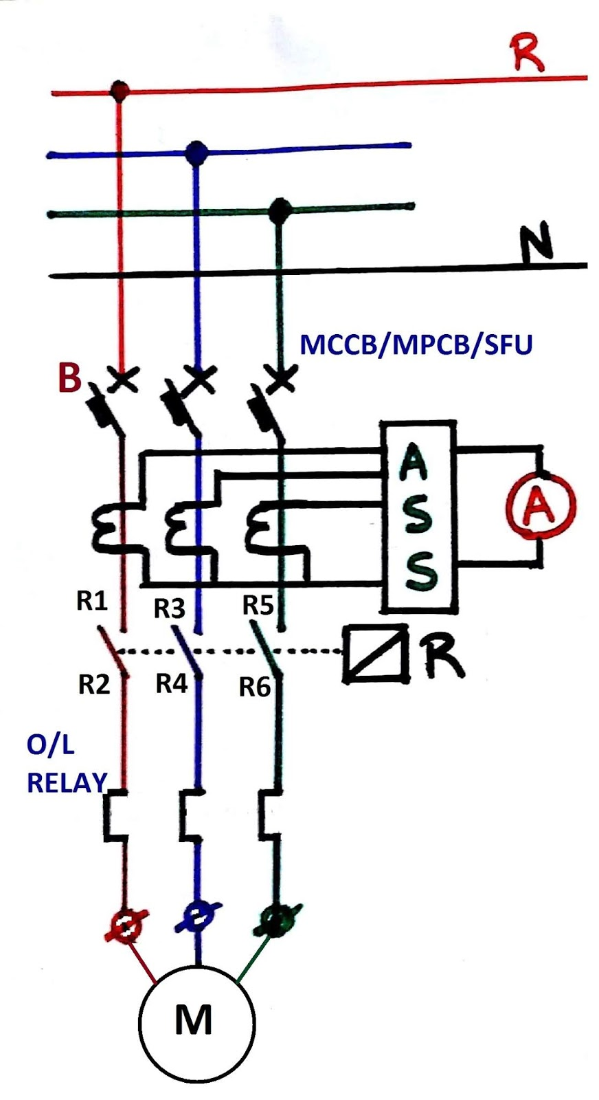 small resolution of dol starter power circuit diagram