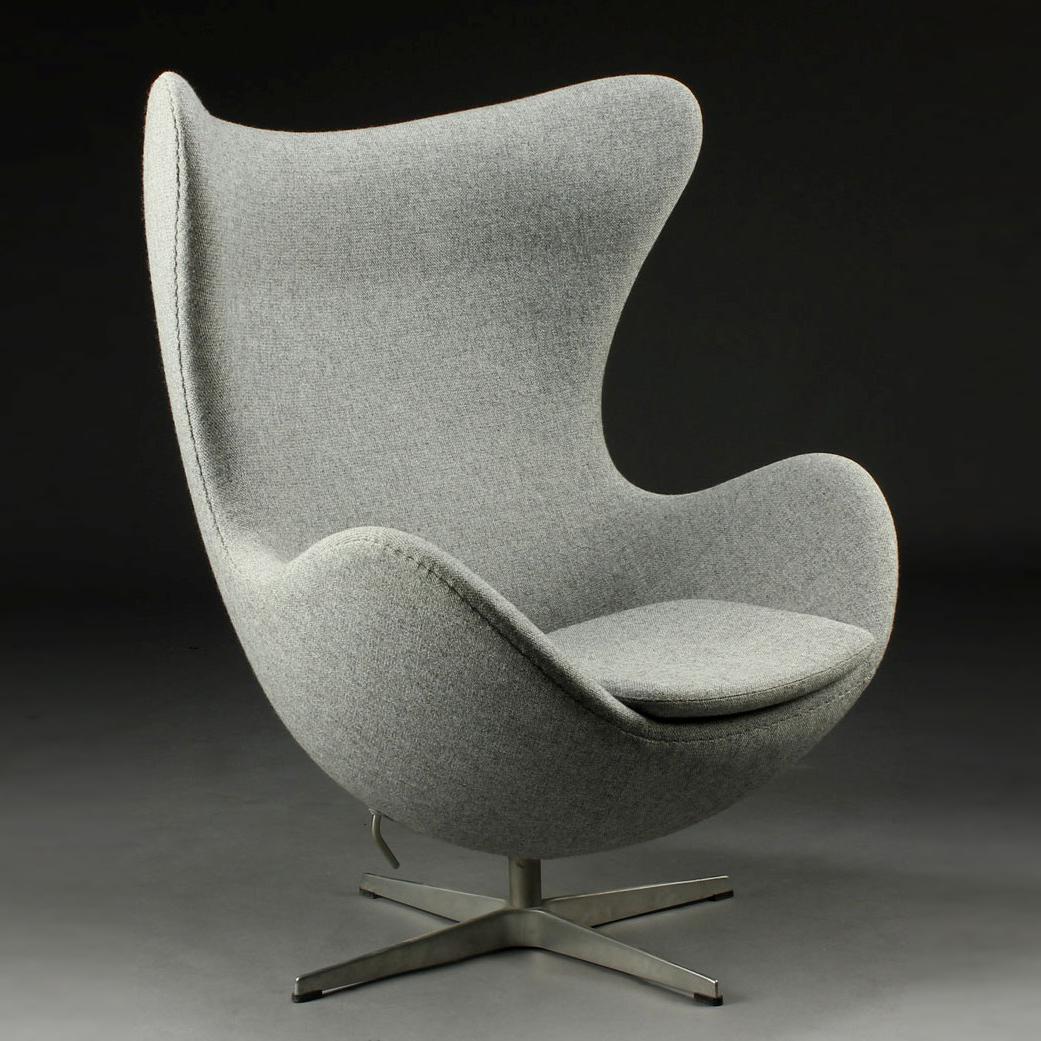 Arne Jacobsen Egg Chair Chairs Under 1000 Rs Fritz Hansen In Kvadrat Tonica