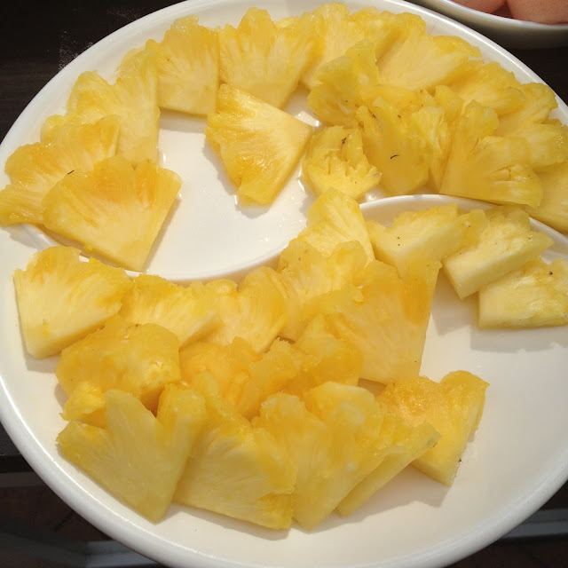pineapples at the Purple Craves dessert buffet
