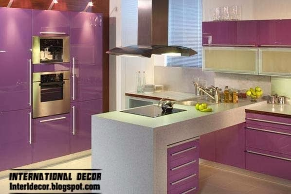 design kitchens 2014 purple kitchen interior design and contemporary kitchen