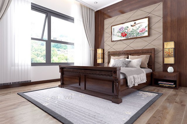 Trang trí phòng ngủ Vinhomes Giảng Võ Hà Nội