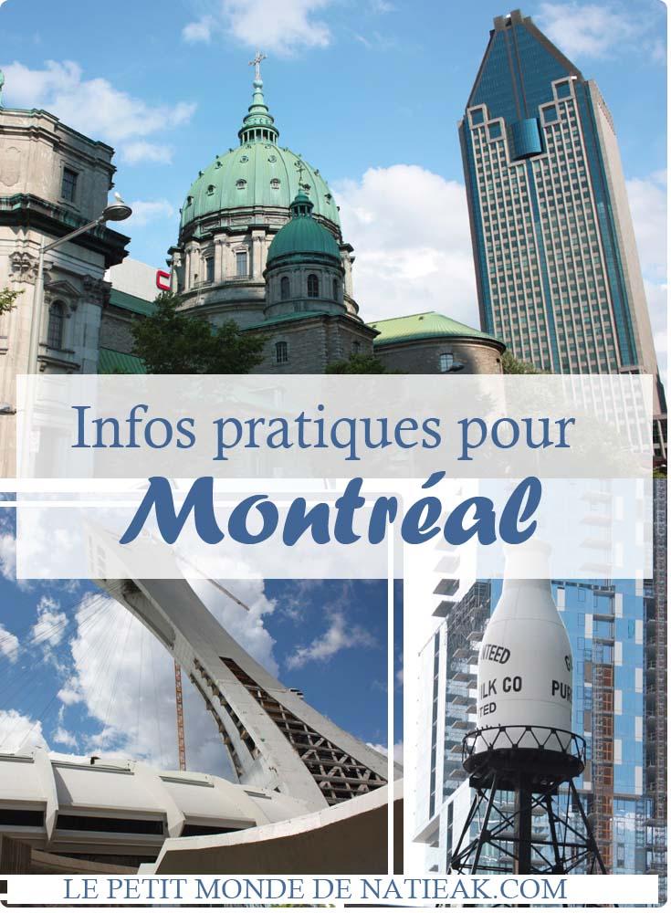 Infos pratiques pour Montréal