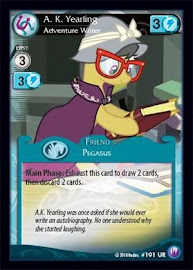 My Little Pony A. K. Yearling, Adventure Writer Canterlot Nights CCG Card