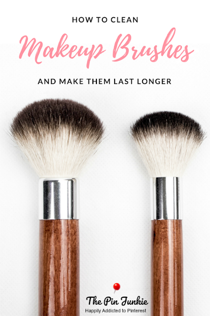 How to clean makeup brushes with only two ingredients.  Makes makeup brushes look and feel like new in minutes.