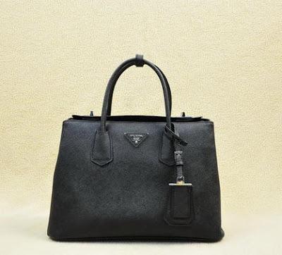 24f1407daa27 Prada Twin Saffiano Cuir Leather Tote Bag BN2748