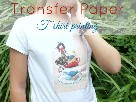 Cómo hacer Camiseta transfer en casa. Diy: Transfer paper t-shirt printing