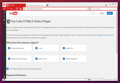 Vivaldi Browser h.264 enabled