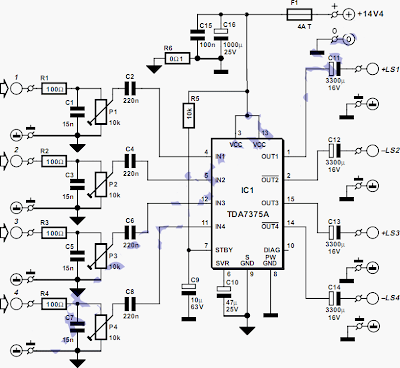 100w Quad Car  lifier additionally Scale Load Cell Wiring further Optimus Stereo  lifier Wiring Schematic likewise  on wiring diagram for multiple amplifiers