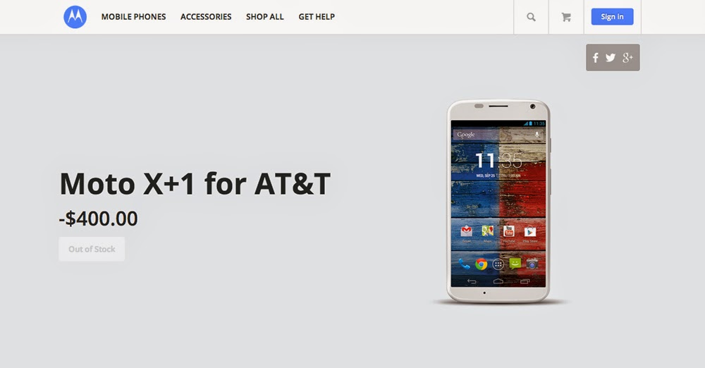 Moto X+1 Appears On Motorola Website