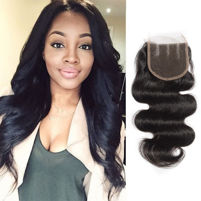 10-20 Inch Virgin Brazlian Hair Body Wavy 4*4 Three Part Lace