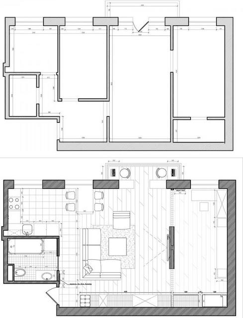 Mặt bằng thiết kế căn hộ 55m2