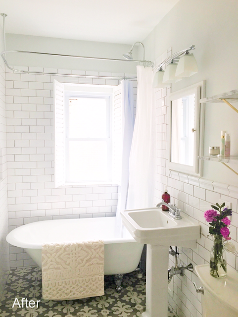 Before & After: Emily's Dramatic Bathroom Makeover /// Design Fixation