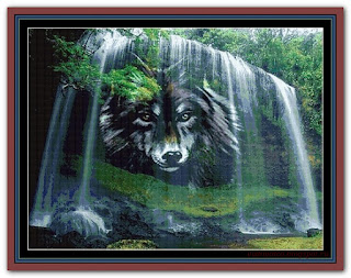 """Black Wolf Fall"" Witchykitt Designs"
