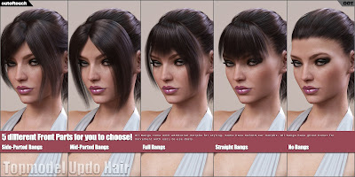 Topmodel Updo Hair and OOT Hairblending 2.0 for Genesis 3 Female