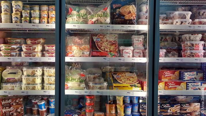 Полуфабрикаты и мороженое в Mega Market, Черногория