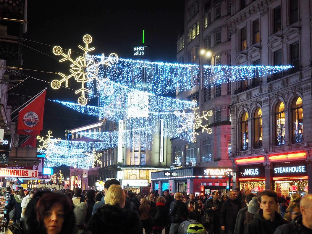 Leicester Square Christmas lights