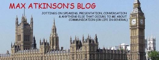 Max Atkinson's Blog