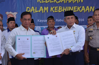 Bupati OKI dan Mesuji Lampung Jalin Kerjasama Lintas Daerah