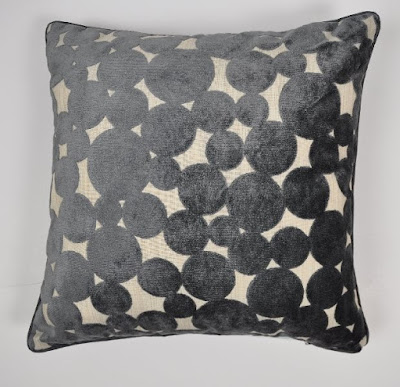 Hayes Spot Cushion, Slate