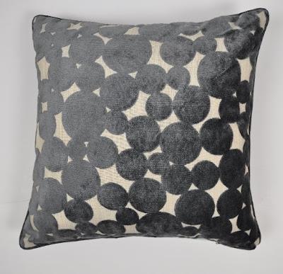 Hayes Spot Cushion, Slate