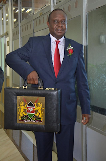 Finance CS Henry Rotich reads the 2017/2018 budget. PHOTO | Courtesy