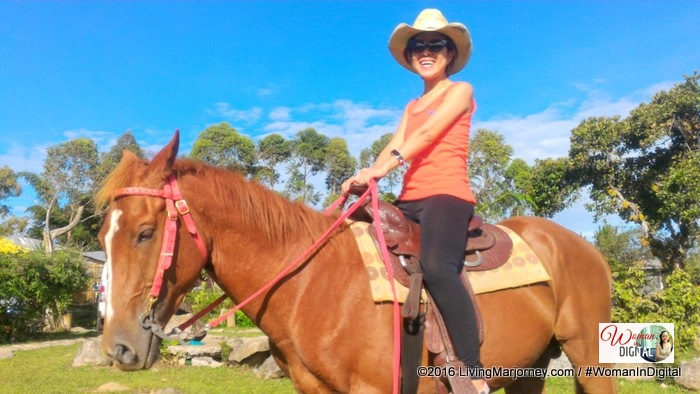 horseback riding in Aloma's Farm Manolo Fortrich