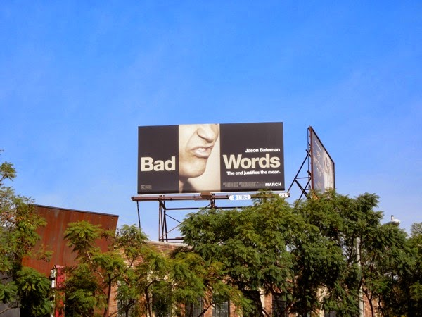 Bad Words movie billboard ad