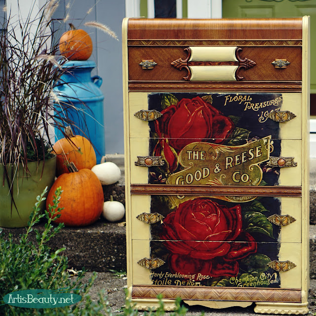 the good and reese co springfield ohio vintage advertisement color transfer graphic dresser makeover http://sumo.ly/10AhL via @www.artisbeauty.