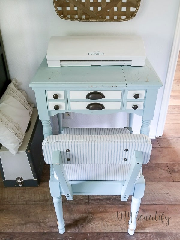 sewing table and chair makeover