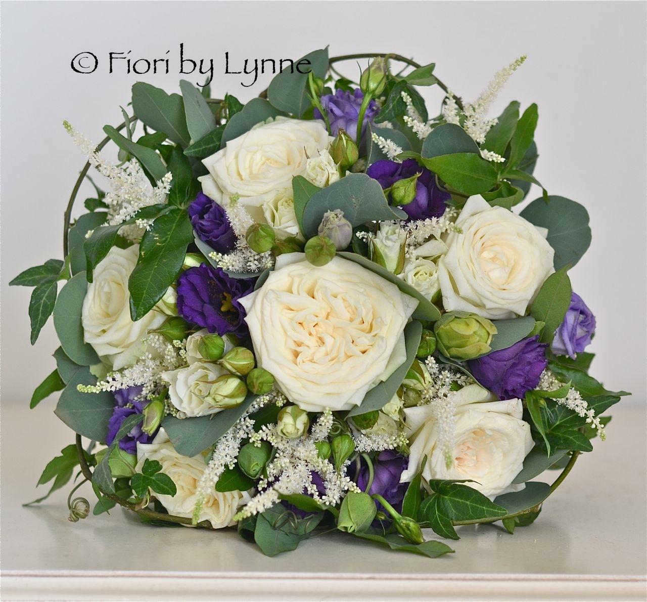 Wedding Flowers Blog: Ali's Very Natural, Ivory, Purple ...