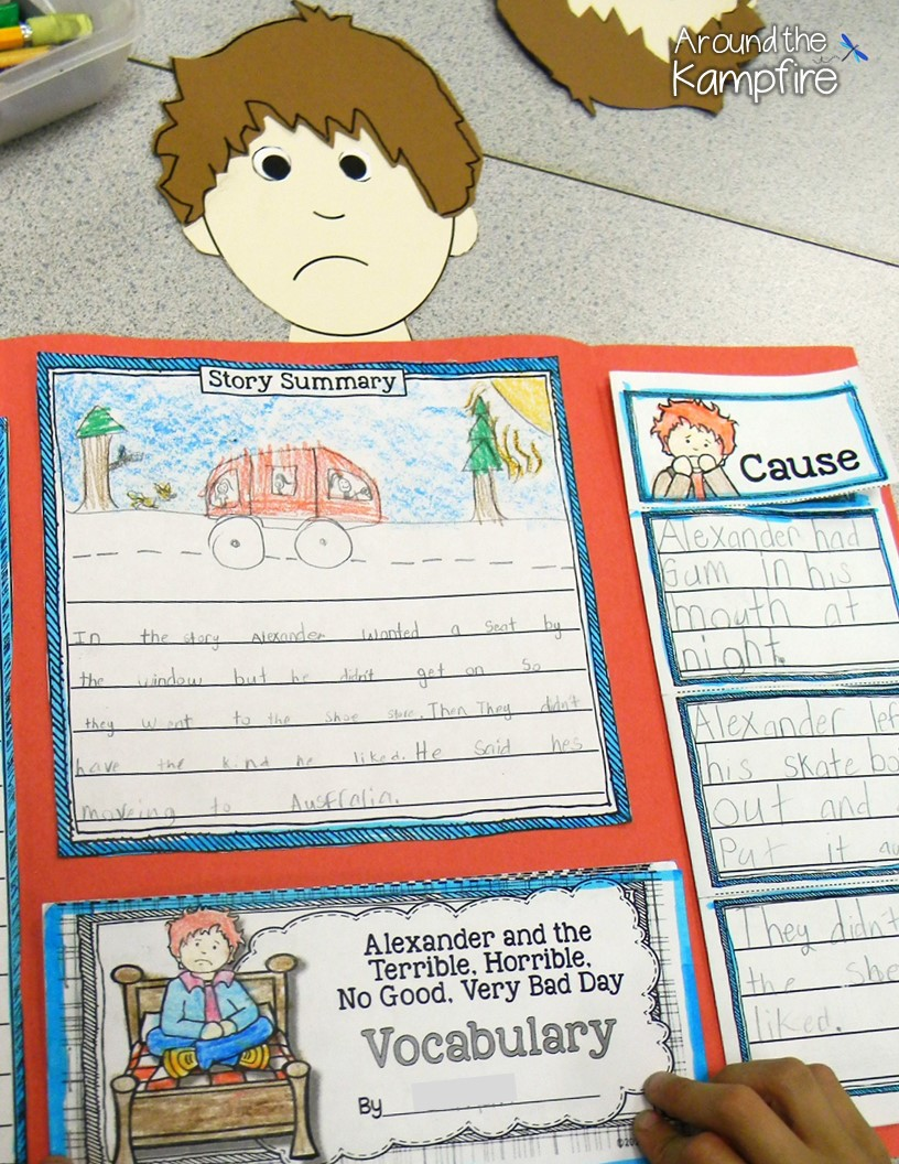 cause and effect alexander and the terrible horrible no foldable lapbook for alexander and the terrible horrible no good very bad day
