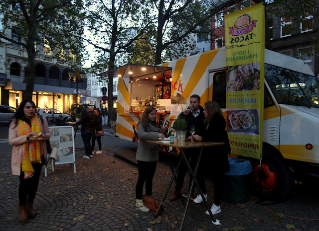 Meet & Eat street food market in Rudolfplatz, Cologne, Germany