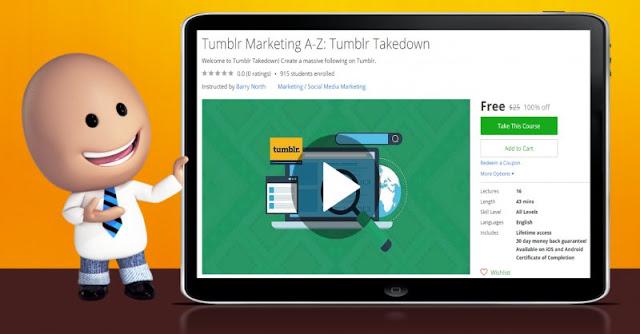 [100% Off] Tumblr Marketing A-Z: Tumblr Takedown| Worth 25$