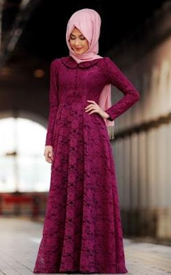 Baju muslim brokat model dress 1