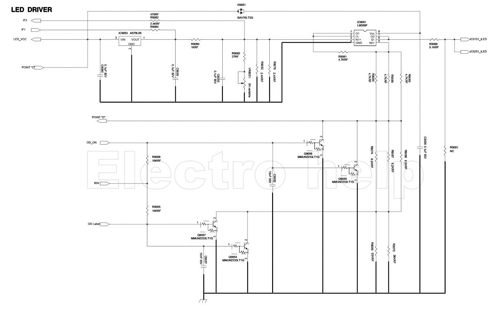 Samsung Bn44 00428b - Led Lcd Tv Smps Circuit Diagram - With Back-light Led Driver