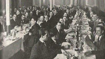 Cena homenaje a los fundadores de la revista Els Escacs a Catalunya en el restaurante Patria en 1932
