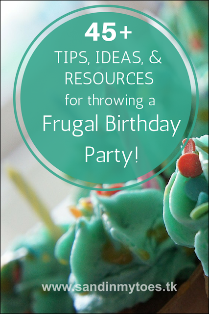 More than 45 tips, resources, and theme ideas for throwing your child a frugal but fun birthday party!